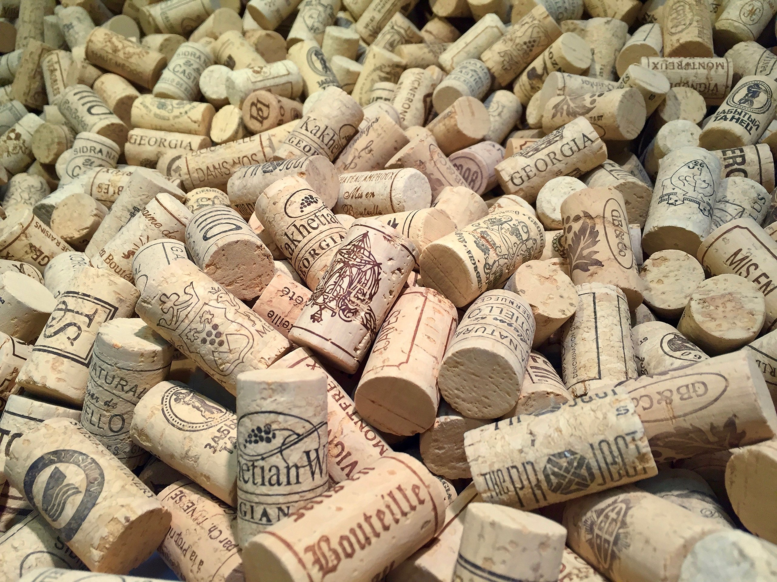 Wine Corks | Brand New, Authentic, All Natural | Printed, Winery-Marked, Craft Grade | Uncirculated, Uniform & Clean | Excellent for Crafting & Decor | Pack of 50/100/150/200 Premium Wine Corks (500) by Corkshire Hathaway (Image #3)