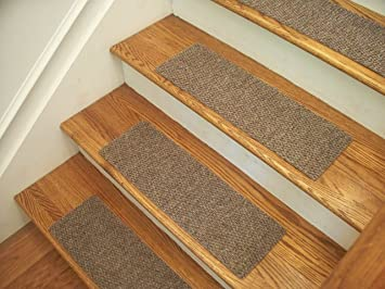 Merveilleux Essential Carpet Stair Treads   Style: Berber   Color: Beige Gray   Size: