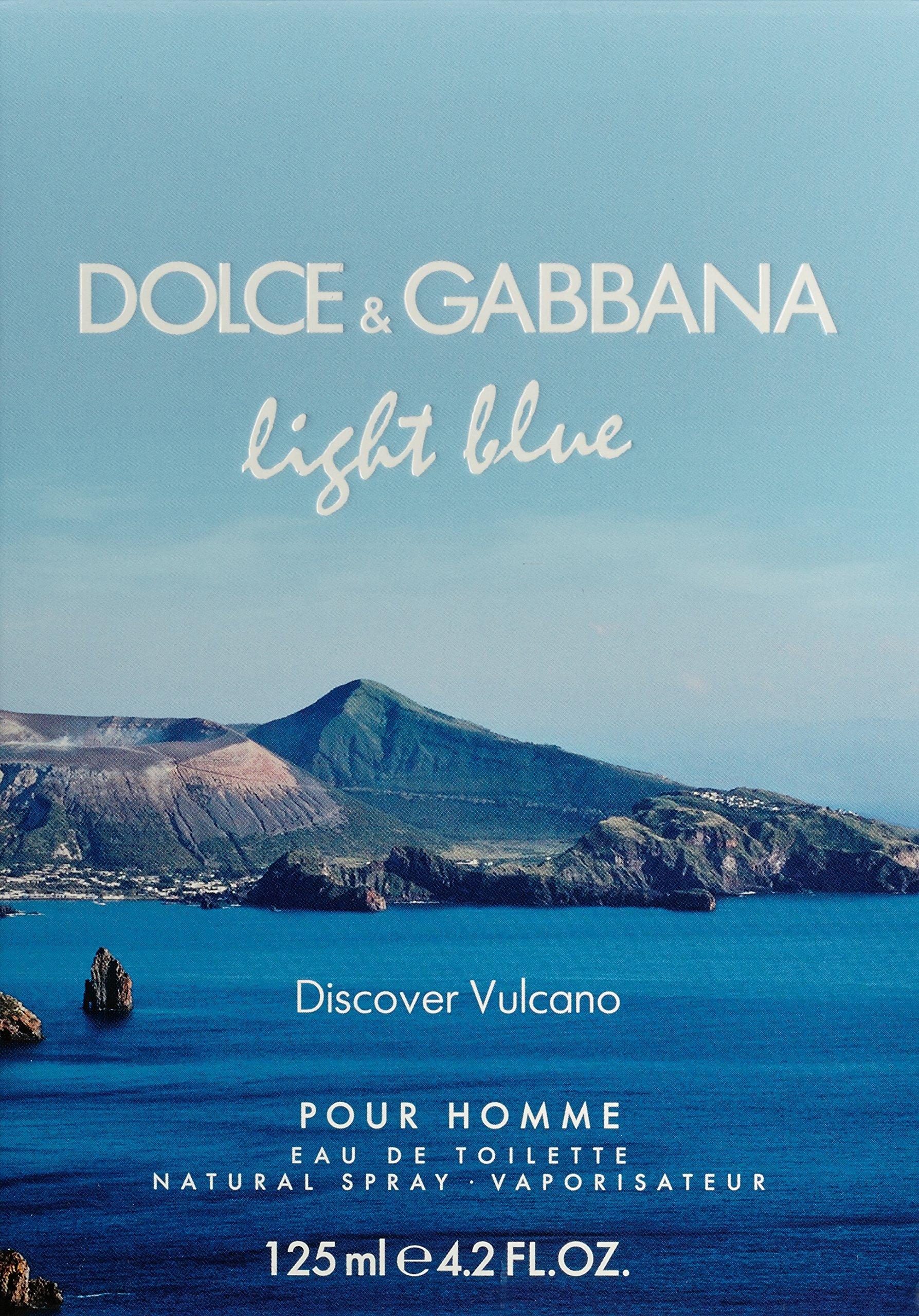 Light Blue Discover Vulcano by Dolce & Gabbana for Men - 4.2 oz EDT Spray