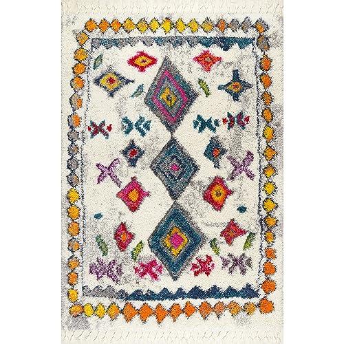 nuLOOM Lynda Moroccan Shag Rug, 5 3 x 7 6 , Multi