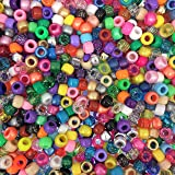 Beads Unlimited PLCN-500 All sorted Pony Bead Barrel Mix 6x8mm (Pack of 500)