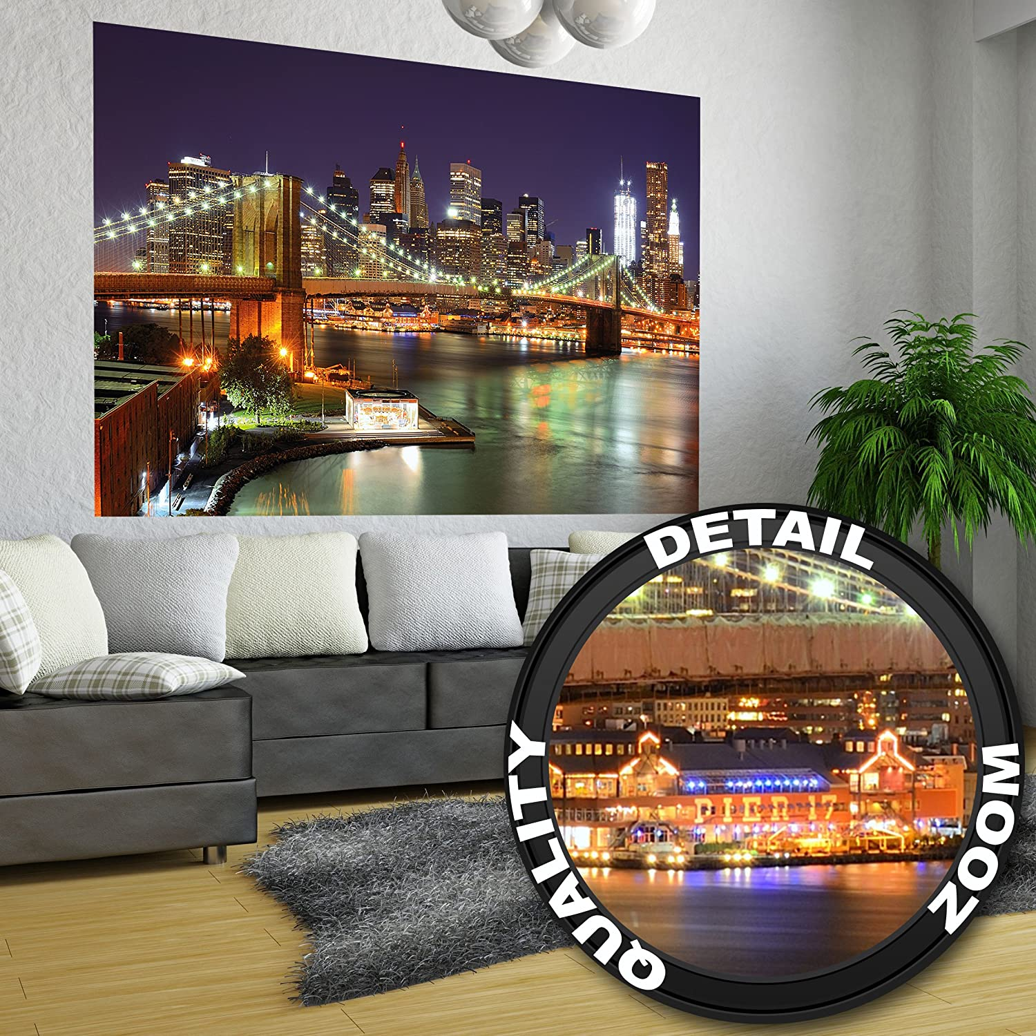 xxl poster brooklyn bridge new york city skyline xxl wallpaper