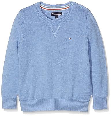 Tommy Hilfiger Jungen Pullover Ame Basic Htr CN Sweater L S, Blau (Vista 8f085d4a88