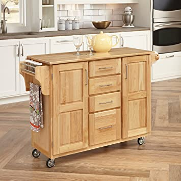 Home Styles 5089 95 Kitchen Center With Breakfast Bar, Natural Finish