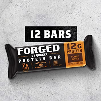 4b3fac9bc20 Quaker Forged Protein Bars, Peanut Butter, 12Count: Amazon.com ...