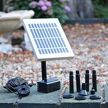 Fontaine solaire Pompe solaire avec batterie de secours - 2 W ...