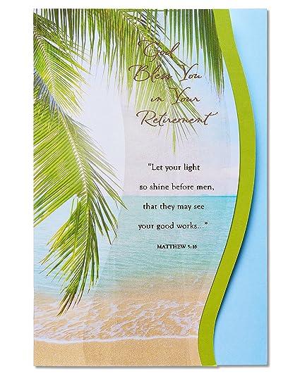 Amazon american greetings religious retirement card with foil american greetings religious retirement card with foil m4hsunfo