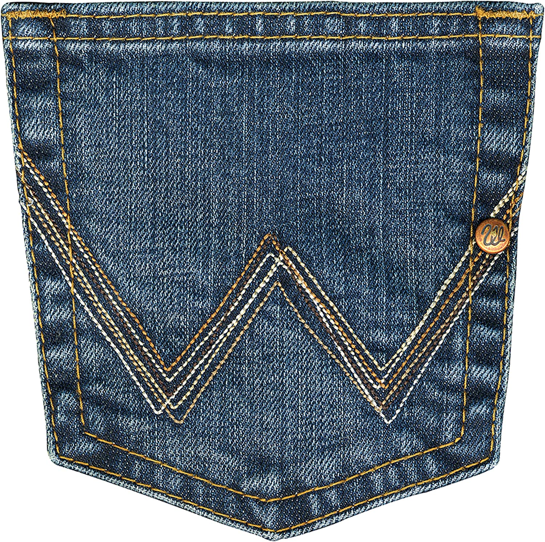 Wrangler Damen Jeans Mid Wash 2