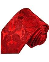 Cravate homme rouge paisley 100% soie