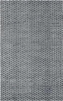 "Rizzy Home Ellington Collection Woven Area Rug, 2'6"" x 8', White/Black"