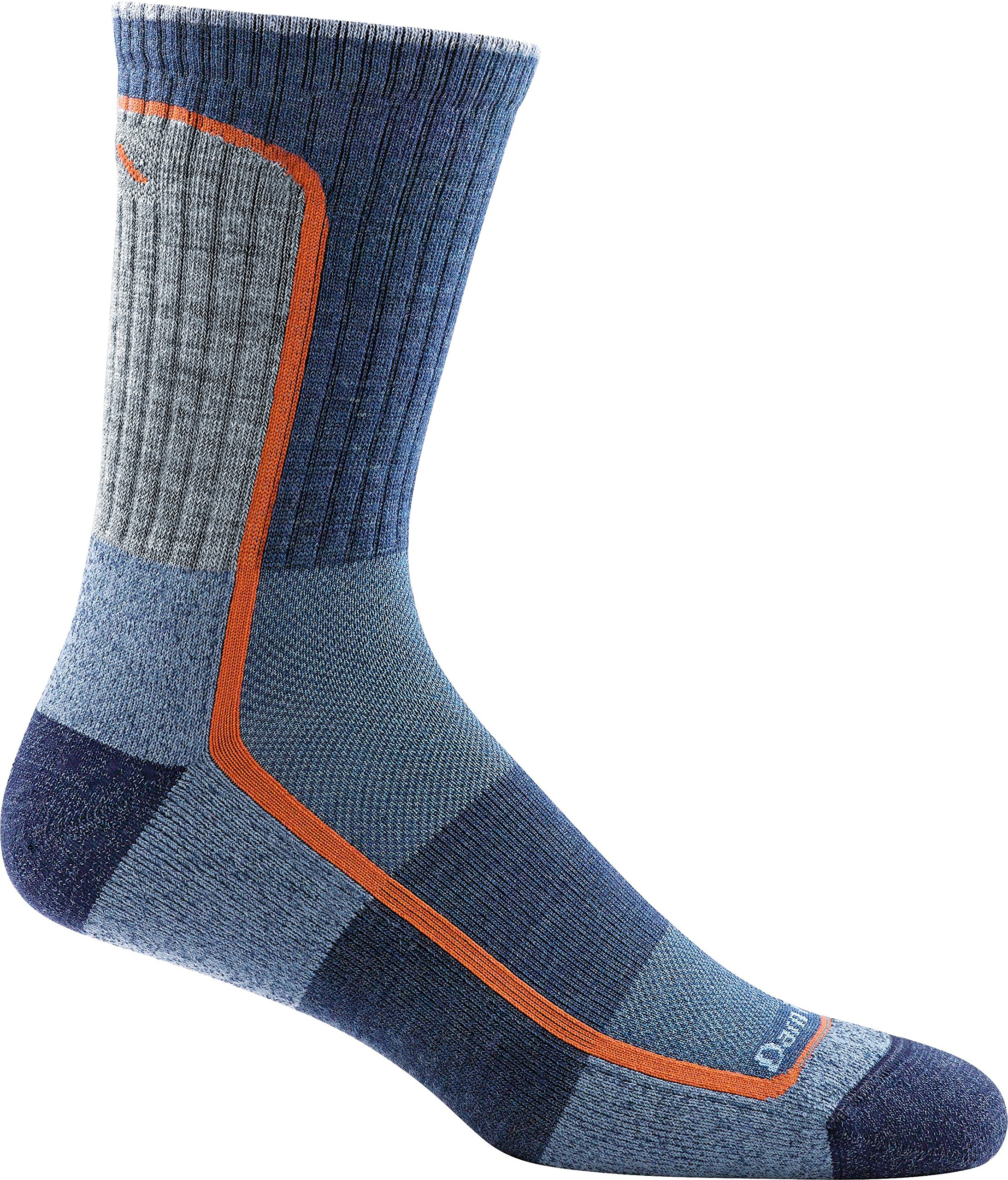 Darn Tough 1913 Men's Merino Wool Light Hiker Micro Crew Light Cushion Socks, Denim, Medium - 6 Pack Special by Darn Tough US