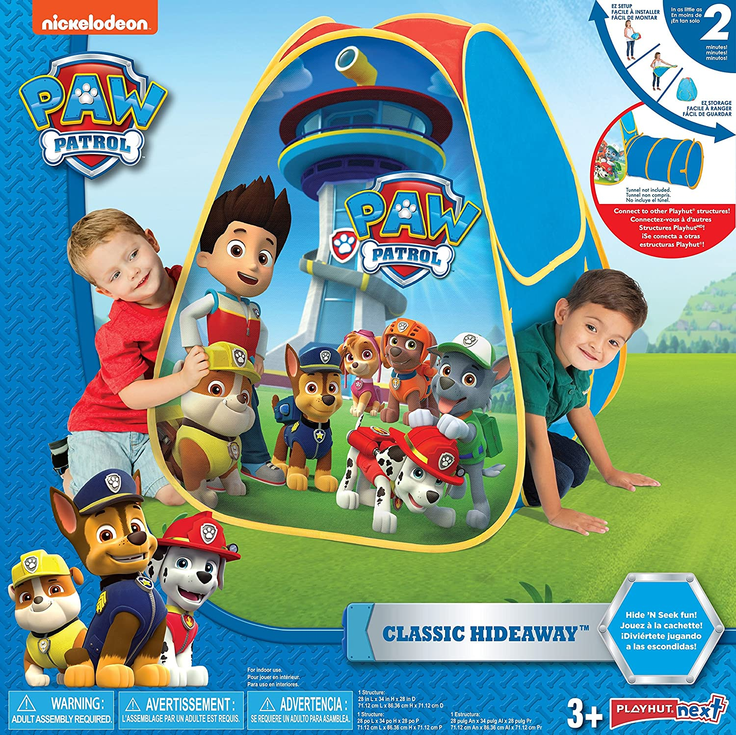 Amazon.com Playhut Paw Patrol Classic Hideaway Playhouse Blue Toys u0026 Games  sc 1 st  Amazon.com : playhut tent with tunnel - memphite.com