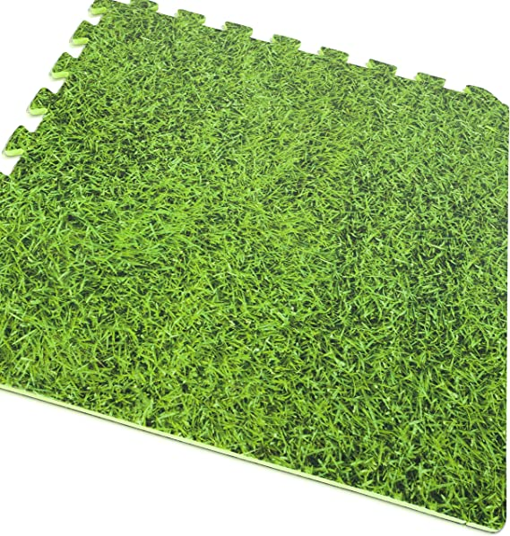 Gre MPF509GR - Protector de Suelo para Piscina, 9 piezas, Imitación Hierba, 8 mm de Grosor: Amazon.es: Jardín