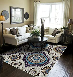 Amazoncom Large Luxury Contemporary Rugs 8x11 Blue Rugs For Living