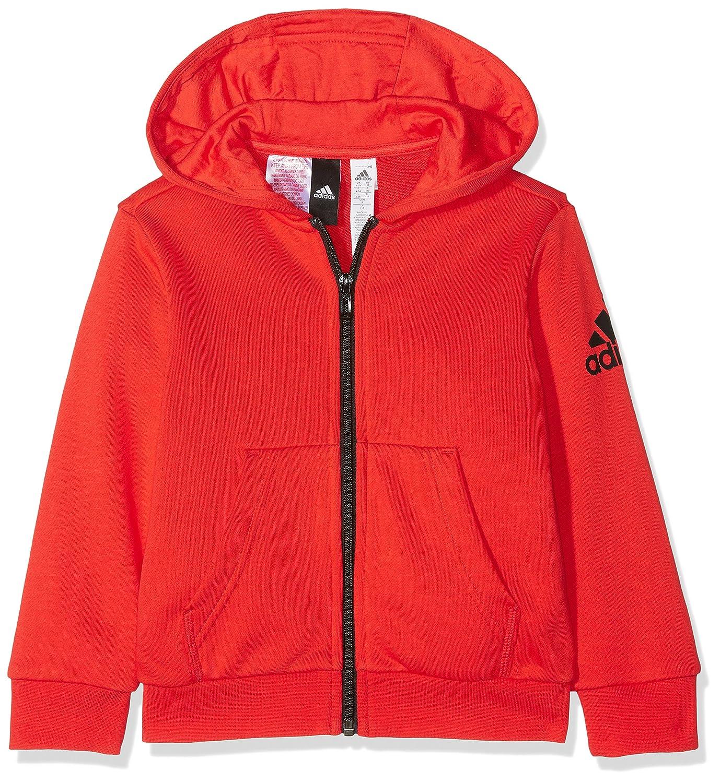 adidas Yb Logo FZ Hood Chaqueta, Niños, Rojo (roalre/Negro), 116 (5/6 años) CF6482