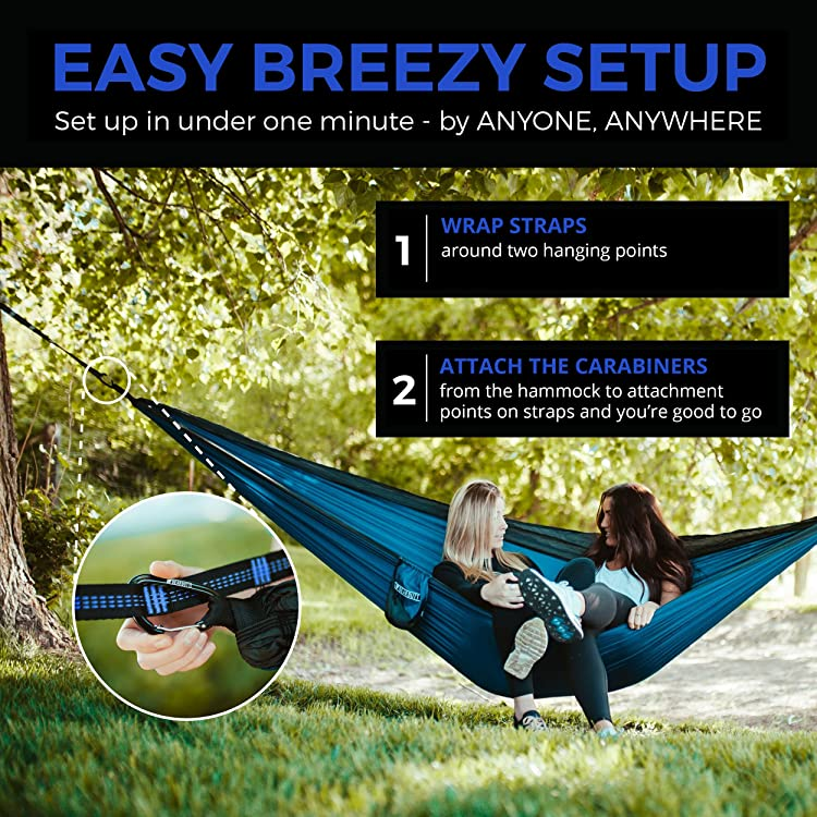 Bear Butt Hammock Straps Heavy-Duty, Lightweight & adjustable -Easy Strap Set for Double Camping Hammocks