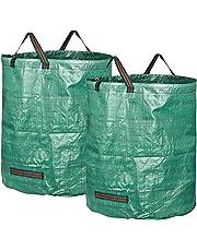 GardenMate Sacchi da Giardinaggio 272L - Sacchi per rifiuti da Giardino - Polipropilene (PP) 150gsm - Robusto, antistrappo, Idrorepellente