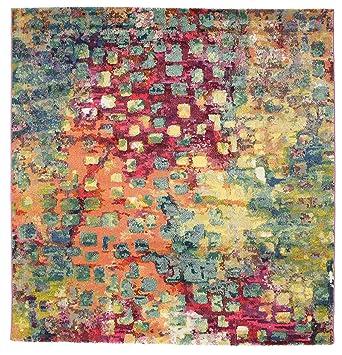 Teppich 200x200  Davina Teppich 200x200 Moderner, Quadratisch Teppich: Amazon.de ...