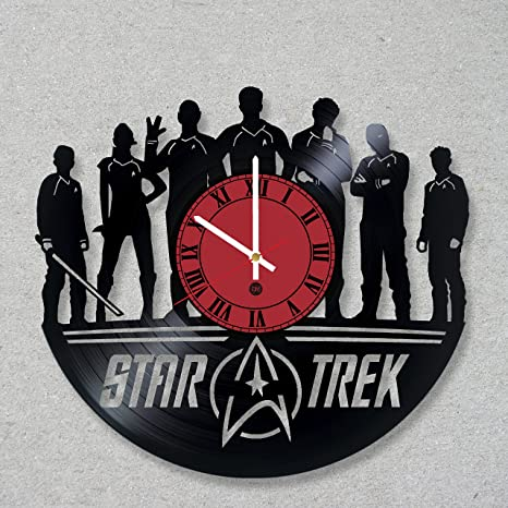 Amazoncom Vinyl Record Wall Clock Movie Star Trek Spock