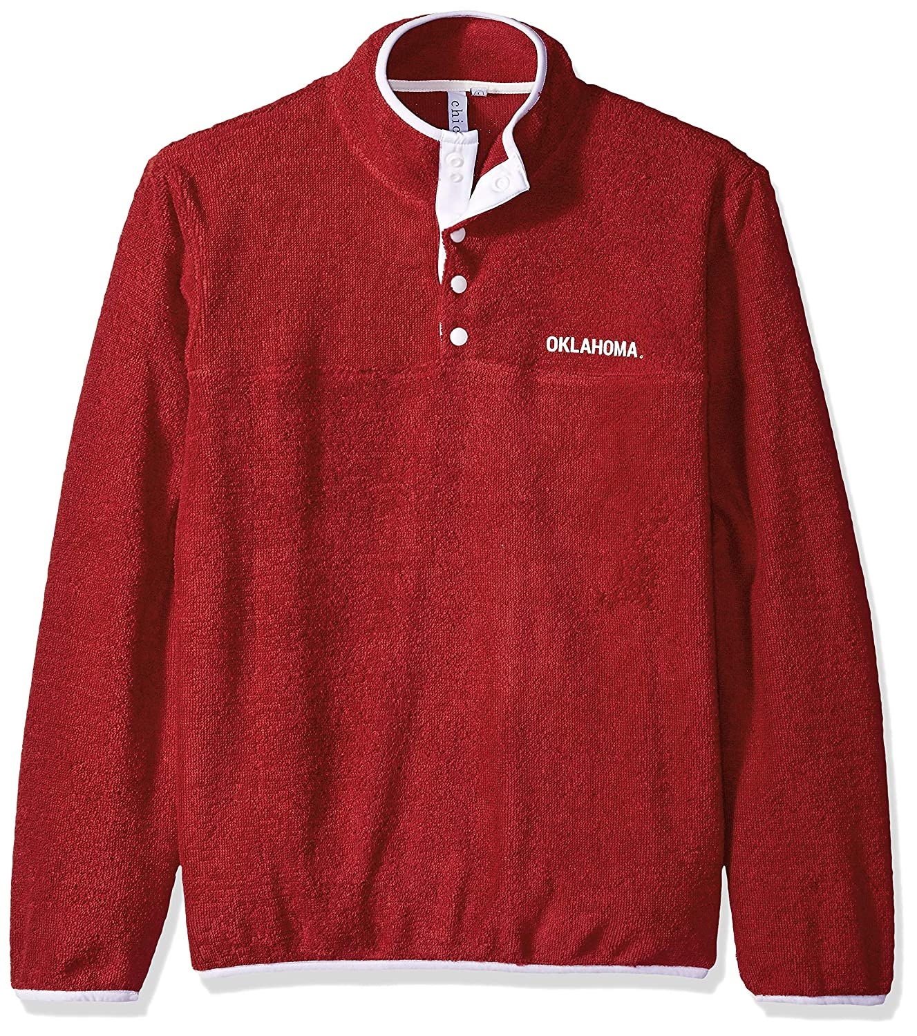 chicka-d NCAA Womens Looped Terry Snap Pullover
