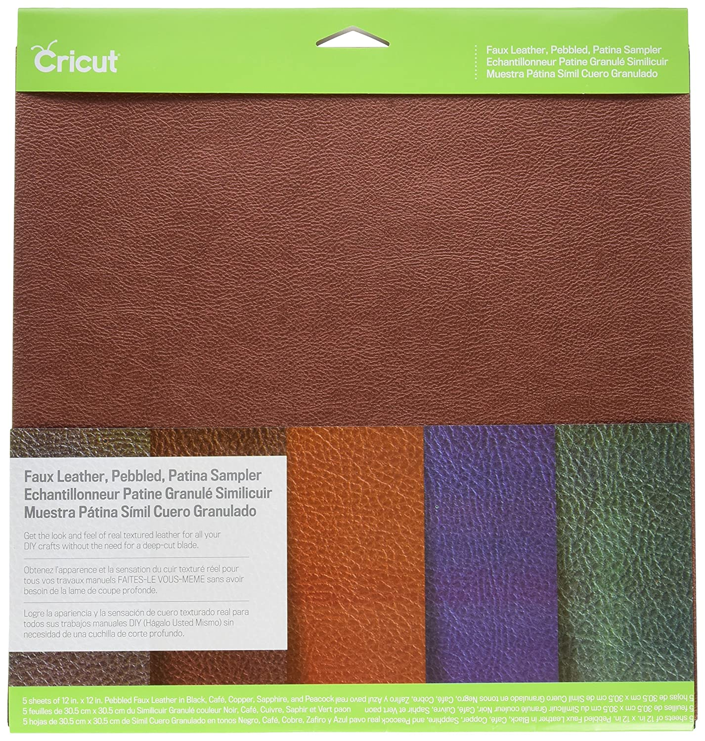 Cricut 2003573  Pebbled in Finta Pelle, Patina Sampler Provocraft  Novelty Inc.