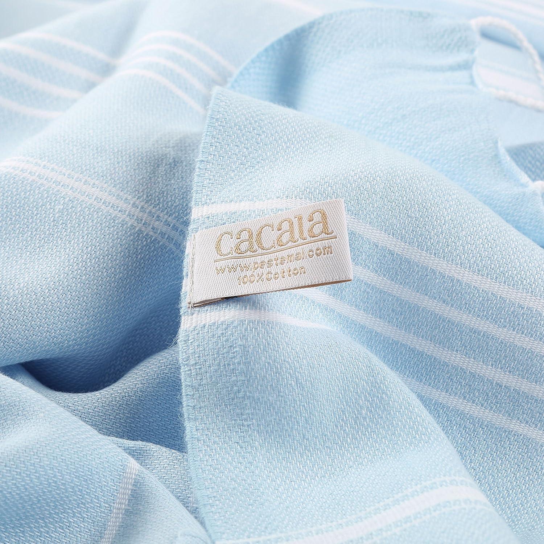 Cacala Toallas de baño Turco de Serie, algodón, Azul Celeste, 95 x 175 x 0.5 cm: Amazon.es: Hogar