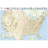 Amazon.com : USA Interstate Highways Wall Map - 22.5 x 15.75 inches on us interstate map, simple united states map, usa road wall map, southeast us road map, usa road maps with distances, usa wall maps united states, federal highway map, us highway route map, bordeaux wine region map, united states road map, usa major highway map, interstate road map,