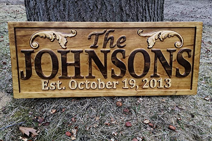 Personalized Lake House Sign Custom Wood Sign Carved Last Name Wooden Signs Home Decor 3d Cabin Rustic Lakehouse Personalized Wedding Gift