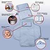 Hopscotch Portable Changing Pad | 3 Pocket Clutch | Diapering Bag Travel Kit | Waterproof Diaper Changing Station with Cushioned Mat for Baby or