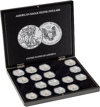 Estuche para 20 monedas de plata American Eagle en cápsulas, negro: Amazon.es: Juguetes y juegos