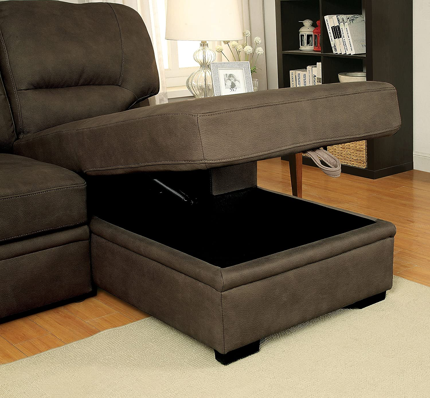 Amazon Furniture of America Canby Contemporary Sectional with