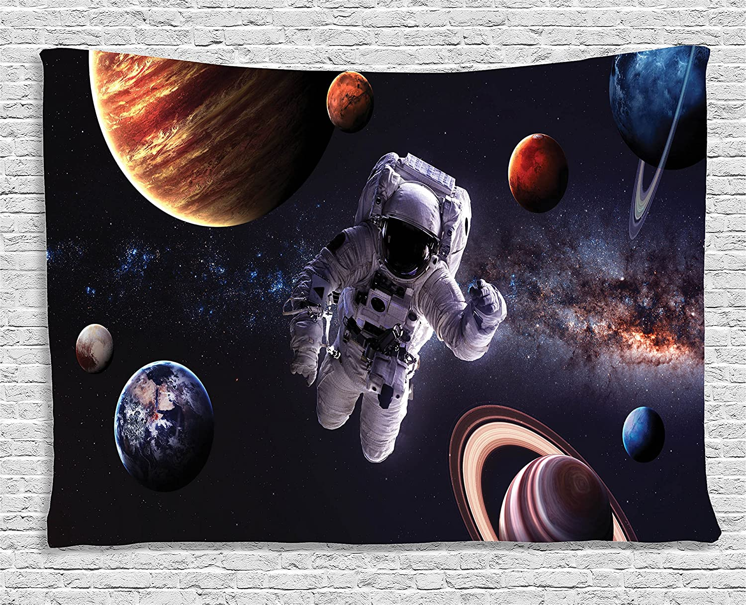 60 W X 40 L Inches Multi Ambesonne Outer Space Decor Tapestry Wall Hanging for Bedroom Living Room Dorm Astronaut Between Planets Mars Neptune Jupiter Plasma Ethereal Sphere Picture