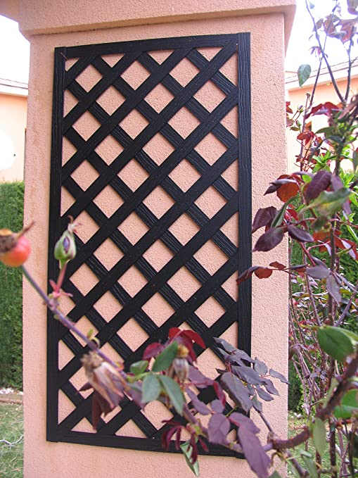 Set de 2 Celosías MADERA COMPOSITE Negro 50x100 cm. Marca: B Cottage Decor.: Amazon.es: Jardín