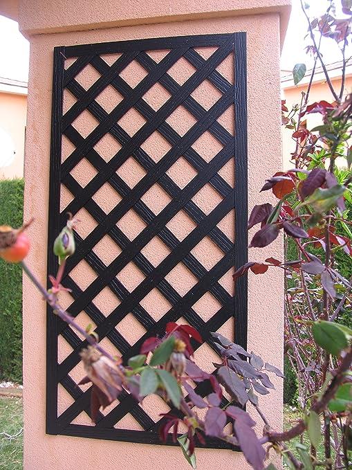 Set de 2 Celosías MADERA COMPOSITE Negro 50x100 cm. Marca: B ...