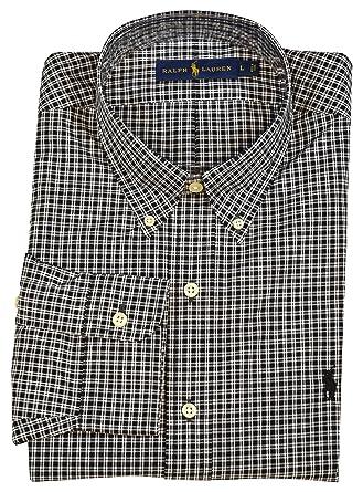 5ccfc58f Polo Ralph Lauren Mens Classic Fit Button-Down Dress Shirt - Black ...