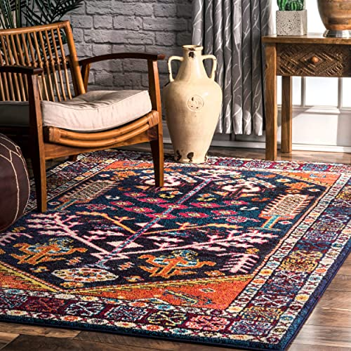 nuLOOM Tonita Tribal Area Rug, 5 3 x 7 7 , Orange