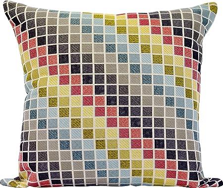 Urban Loft by Westex Tetris Feather Filled Decorative Throw Pillow Cushion, 20 x 20