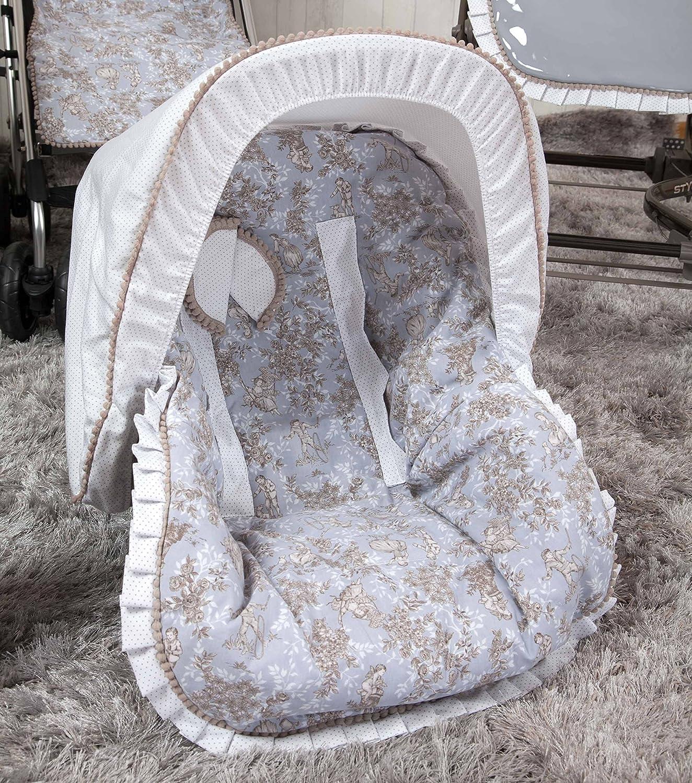 Babyline Toile - Colchoneta para silla grupo 0, color azul: Amazon ...