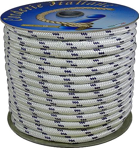 wei/ß blau mit Marker /00/Braid nautica-050/mm-12/M wei/ß mit Etikett aus Kunststoff blau Farbe corderie Italiane 6000785/