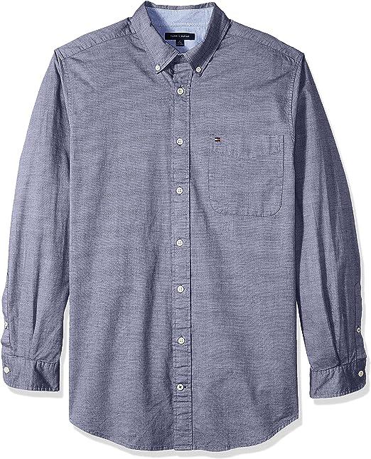 Tommy Hilfiger Hombre 78B8234 Manga Larga Camisa de Botones - Azul ...