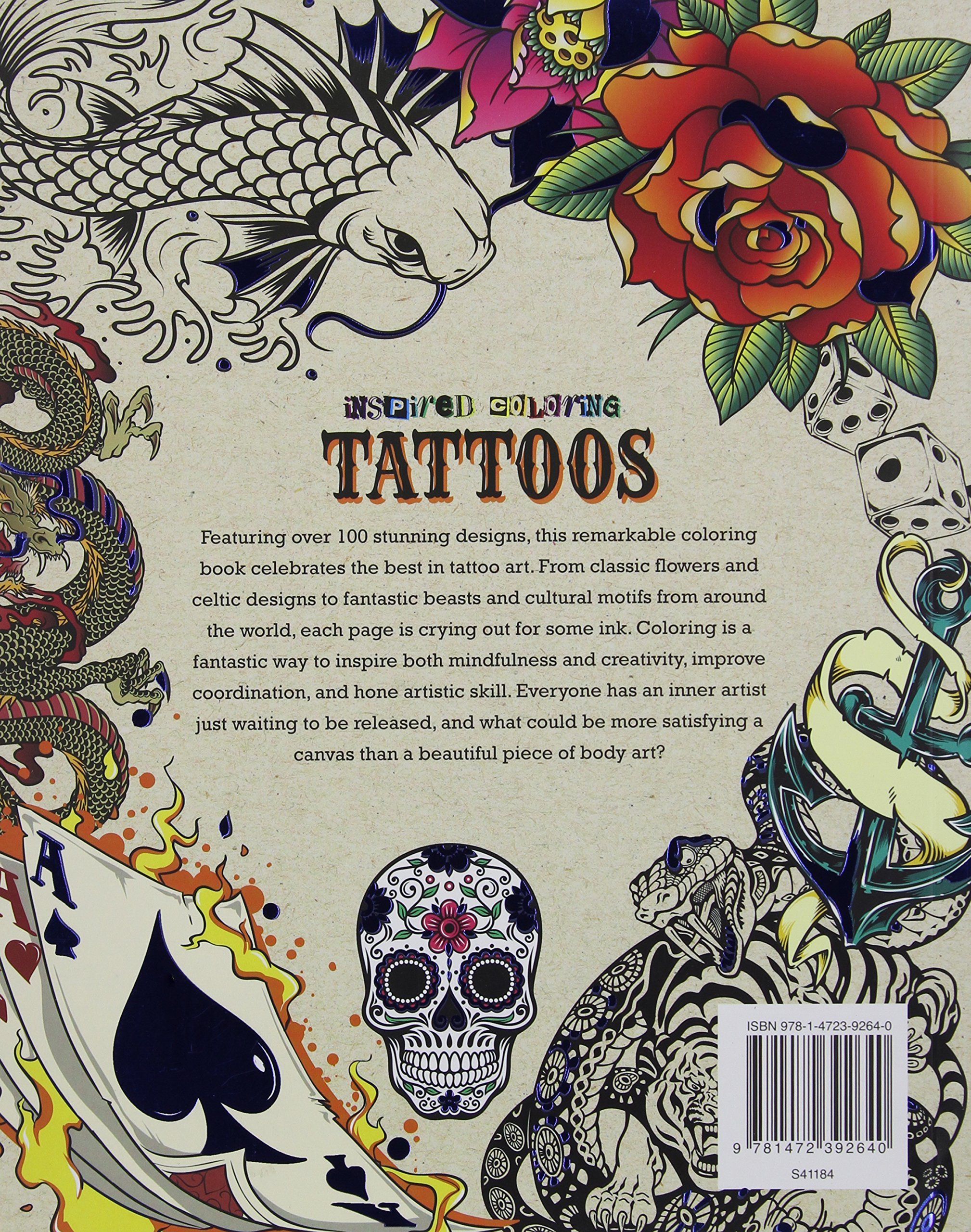 Tattoos Inspired Coloring Parragon Books Amazon