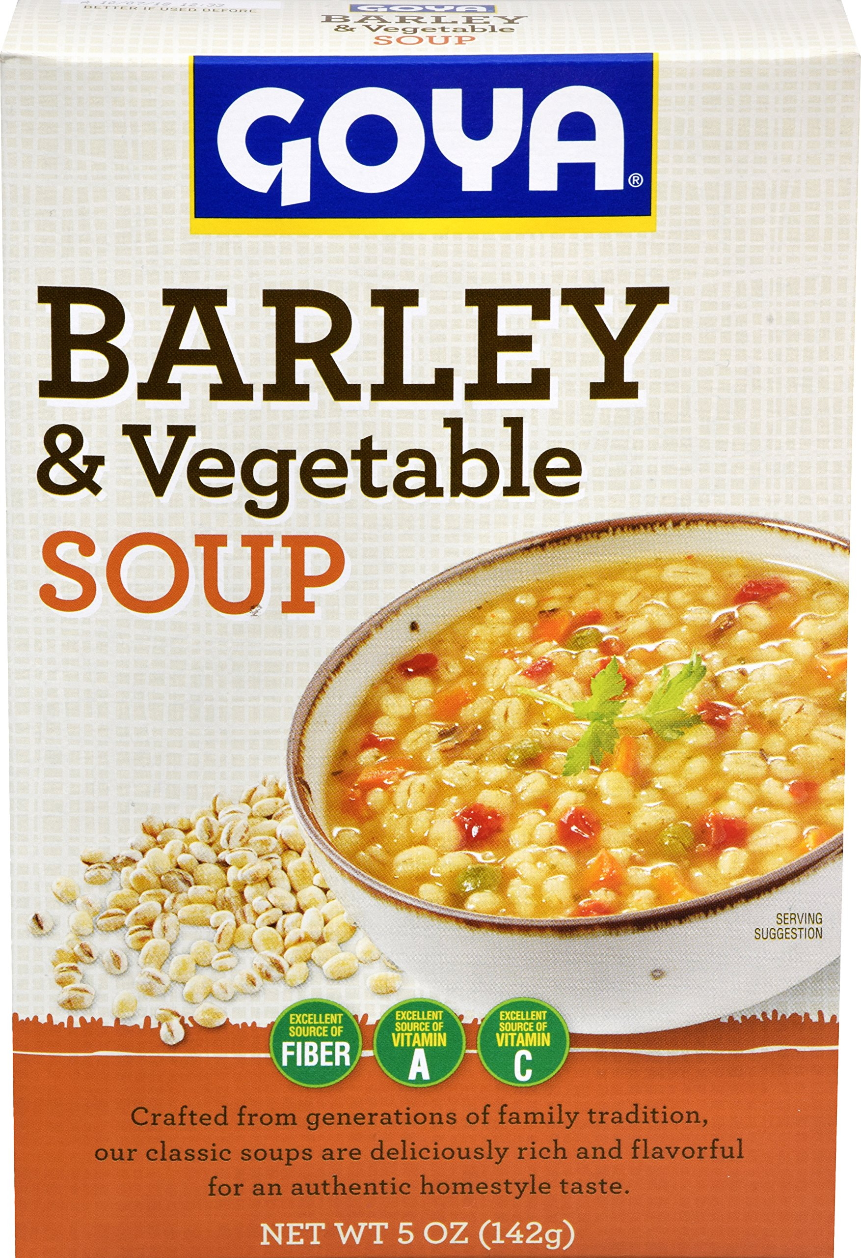 Goya Foods Vegetable Barley Dry Soup, 5 Ounce (Pack of 12)