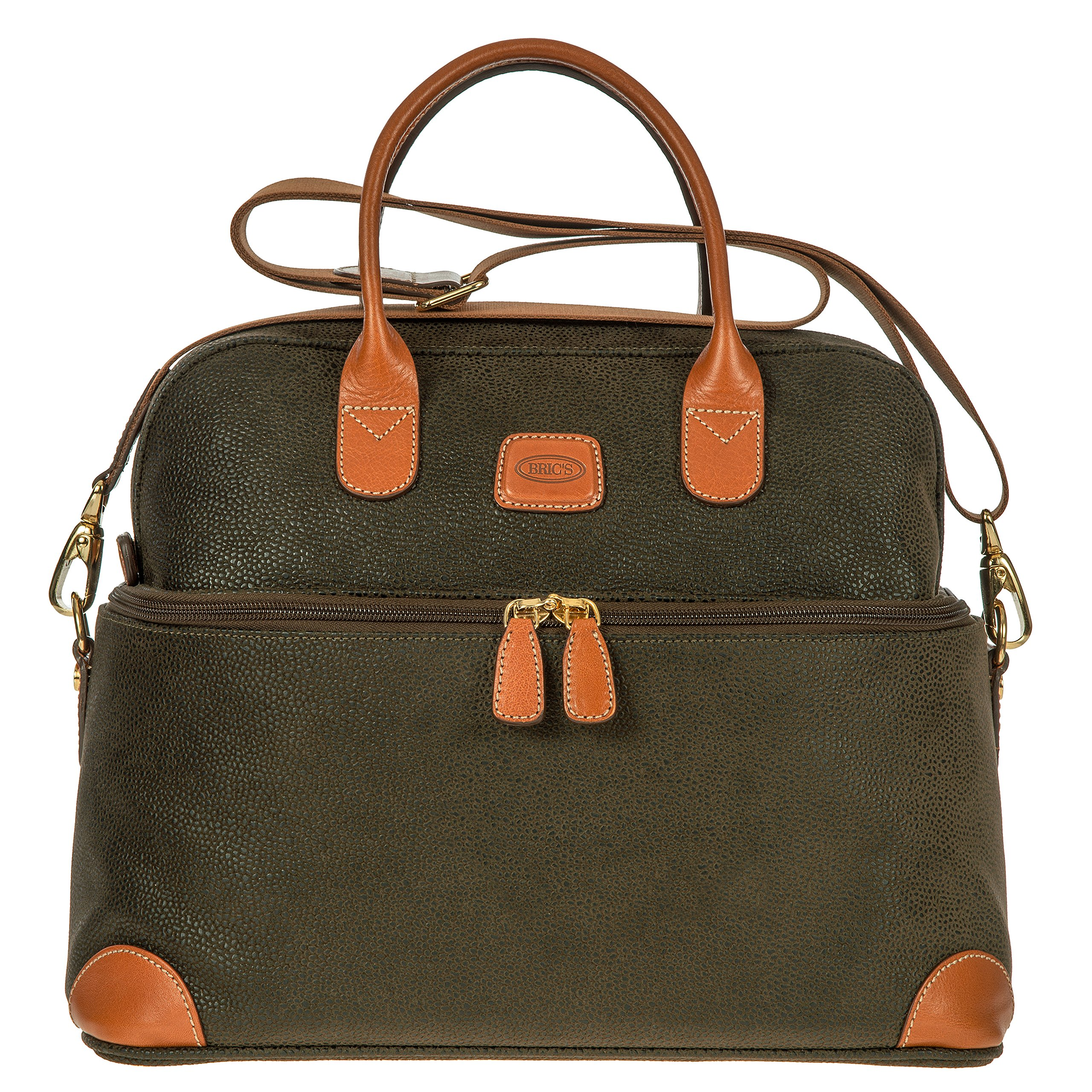 Bric's Life Tuscan Train Bag Cosmetics Case, Olive
