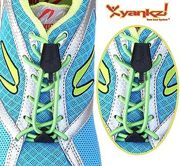 YANKZ - das Schnürstystem Cordón de zapatos amarillo amarillo fluorescente Talla:talla única 1bdARiM