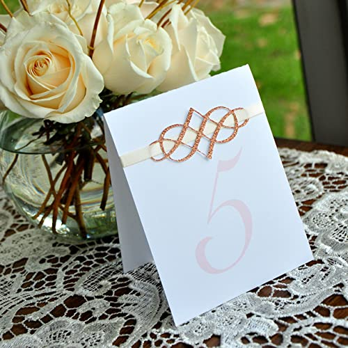 Amazon Com Elegant Table Numbers Blush Wedding Decorations Rose