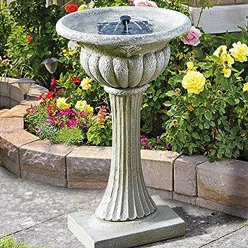 Fontaine Bain d\'Oiseau Gris Rochester en Résine Imitation Pierre ...