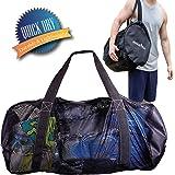 Athletico 网眼潜水旅行袋适用于潜水或浮潜 XL 网状旅行袋适用于潜水和浮潜装备和设备 - 干袋可放置面罩、鳍、*管等