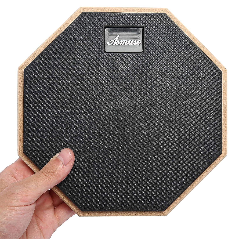 """Asmuse/™ 8/"""" Drum Practice Pad de pr/áctica almohadilla de bater/ía Transporte para Entrenamiento-Gris"""
