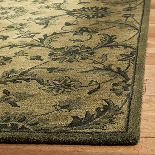 Safavieh Antiquities Collection AT824A Handmade Traditional Olive and Green Wool Area Rug 2 x 3