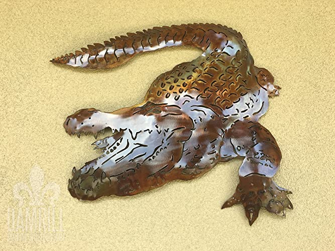 Amazon.com: Bayou Alligator Metal Wall Art 24 inch Gator Shootem ...